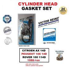 VICTOR REINZ HEAD GASKET SET for CITROEN AX PEUGEOT 106 1.4D ROVER 100 114D 88->