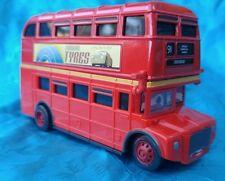 Red Double Decker British Bus Diecast Metal & Plastic