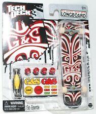 TECH DECK LONGBOARD Fingerboard SKATEBOARD G&S GORDON & SMITH w STICKERS A NEW