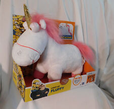 "New 12"" Long Light-Up Fluffy Unicorn Plush Despicable Me 3 Horn Sound Thinkway"