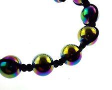 Rainbow Shamballa Adjustable Bracelet Hematite Style Multi Colours Bohemian