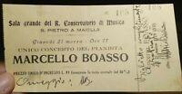 1929 60) BIGLIETTO DI CONCERTO AUTOGRAFO COMPOSITORE TORINESE MARCELLO BOASSO