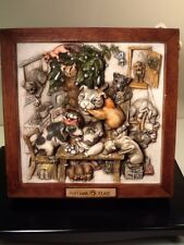 Harmony Kingdom - Picturesque - Ruffians Feast - Dog Figurine Wall Plaque