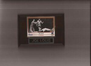 JOE LOUIS PLAQUE BOXING CHAMPION   C