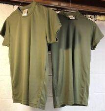USMC Danskin USA TACTICAL UNIFORM PT SHIRT Small Green Short Sleeve Tee Lot x2