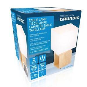 Grundig Table Lamp Energy Saving Bedside 1.2M Cable Length - 14x24.5 cm