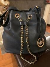 Michael Kors Frankie Large Convertible Shoulder Bag - Leather Black