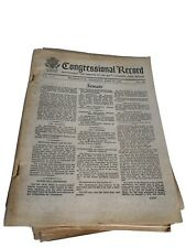 Congressional Record Lot From 1969 / Senate And House Of Representatives