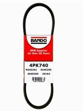 Serpentine Belt-Rib Ace Precision Engineered V-Ribbed Belt BANDO 4PK740