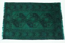 Exclusivamente Vintage Elegante Verde Neón Aspecto Antiguo Alfombra Persa