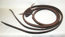 "Western Set of Reins - Black 8' Harness - Split - Water Loop Ends 5/8"" New"
