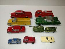 VINTAGE DIE CAST LOT HUBLEY TOOTSIETOY DINKY BARCLAY YATMING 10 car lot
