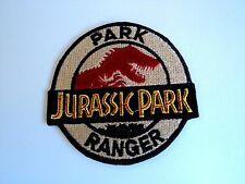 1x Jurassic Park Patch Embroidered Cloth Patches Applique Badge Iron Sew On
