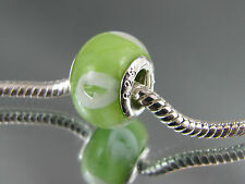 925 SILVER STAMPED MURANO GLASS BEAD FOR EUROPEAN STYLE CHARM BRACELETS #DC 230