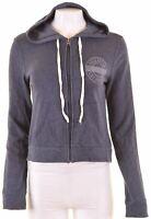HOLLISTER Womens Hoodie Sweater Size 10 Small Blue Cotton  DZ26