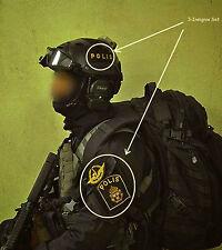 SWEDEN SWEDISH POLISEN POLIS PIKETEN PIKETENHETEN SWAT vel©®⚙ 3-INSIGNIA SSI SET