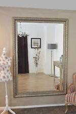 Large Silver Ornate Decorative Big Wall Mirror 6Ft10 X 4Ft10 208cm X 147cm