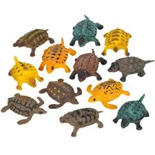 "1 DOZEN - 1.5"" MINI TOY TURTLES birthday party favors animal reptiles prizes"