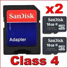 2x 16GB Class 4 Micro SD SDHC MicroSD Memory Card 16 G GB 16G TF