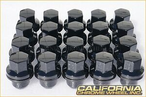 Black Land Rover Range Rover Lug Nuts and Locks 20 For LR3 LR4 HSE Supercharged