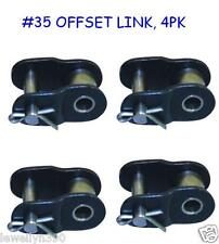 Tru Pitch #35 Roller Chain OFFSET Master Link 4pk Go Kart Mini Bike Cart Tiller