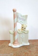 Precious Moments Enesco Sugar Town Flag Pole #184136 NEW IN BOX (PR16)