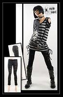 New PUNK RAVE Gothic Rock Metal Mesh Hole Pants Leggings K099 Black Fast Postage