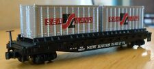 N scale flat car NH New Haven w/ SeaLand containers Bachmann NWOB knuckle