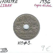 LIBAN - 1 PIASTRE - 1936 - Pièce de monnaie en Cupro-Nickel // Qualité: TTB