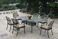 Elisabeth patio dining set 7 piece cast aluminum outdoor furniture table chairs