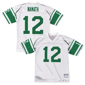 Joe Namath 1968 New York Jets Mitchell & Ness Road White Legacy Jersey Men's