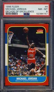 1996 Fleer Decade of Excellence #4 Michael Jordan PSA 8 NBA - NEW PSA GRADE