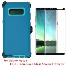 Cyn TL For Samsung Galaxy Note 8 Defender Case Cover w/ Tempered Glass Screen