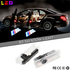 2  LED Car Door Courtesy Laser PROJECTOR LOGO GHOST Shadow Light For BMW M Sport