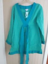 55ef7a2e378 DEBBIE KATZ LADIES SIZE S GREEN TOP / COVERUP NWT
