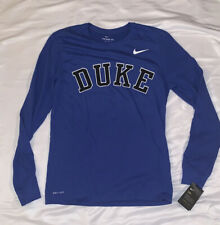 Men's Nike Duke Blue Devils Long Sleeve DRI-FIT Arch Facility Shirt NWT Medium