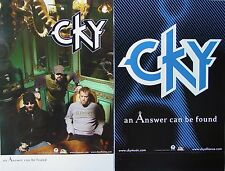 CKY An Answer Can Be Found RARE Two Sided PROMO Poster DERON MILLER Jess Margera