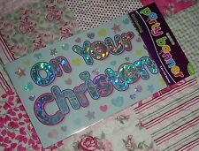 """""""EDGE"""" 2.6 Metres """"ON YOUR CHRISTENING"""" CELEBRATION PARTY FOIL BANNER"""
