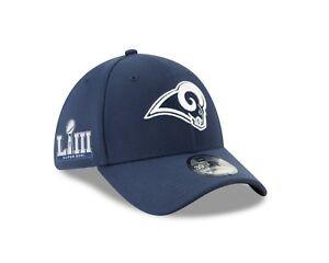 Los Angeles Rams New Era Super Bowl LIII Side Patch 39THIRTY Flex Hat – Blue