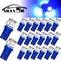 20 x Pure Blue T10 LED  Bulbs Car Interior License Light 2825 194 5050 5 SMD