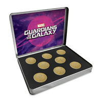 Marvel Comics Gifts Guardians of the Galaxy Antique Style Gold Collectable Coins
