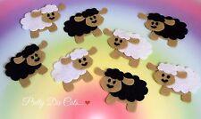 Felt Sheep (pack of 2) Black & White Lamb Sheep Die Cut Craft Embellishments