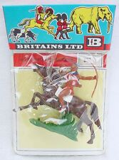 Britains Ltd Herald 1:32 WILD WEST BOW & ARROW MOUNTED INDIAN Figure Set MISB`68