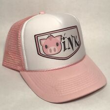 14a1634f442 Pig Says OINK Cool Trucker Hat Vintage Style Hobby Hog Farm Snapback Cap  Pink