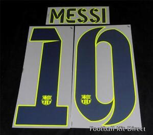 Official Barcelona Messi 10 2014-15 Football Name/Number Set Away Player Size