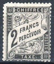 """FRANCE STAMP TIMBRE TAXE N° 23 """" TYPE DUVAL 2F NOIR """" NEUF x RARE A VOIR   M466"""