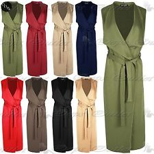 Tie Polyester Sleeveless Jumpers & Cardigans for Women