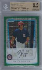 2011 Bryce Harper Bowman Chrome Green Xfractor RC- BGS 9.5 Gem Mint w/10 sub