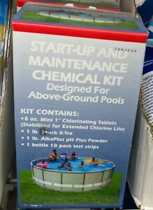 New, Start Up and Maintenance Chemical Kit for Easy Set Above Ground Pools