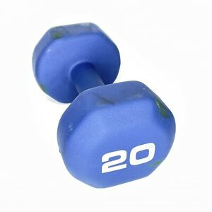 20LB Dumbbell Neoprene  Blue Only  1 Hand Weight See Photos